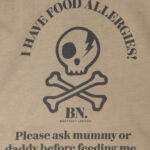Food allergy tshirts for children