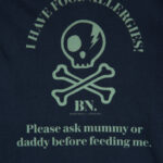 kids allergy tshirt navy